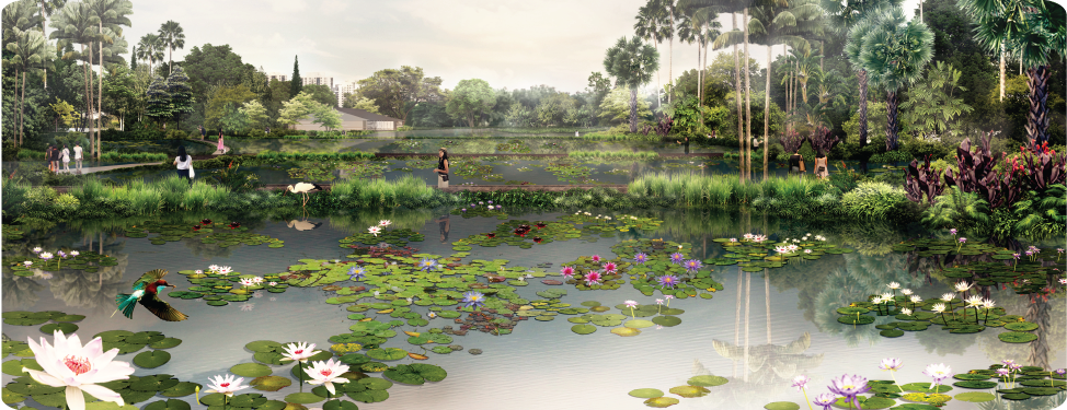 The Watergardens at Canberra Preliminary Artist Impression